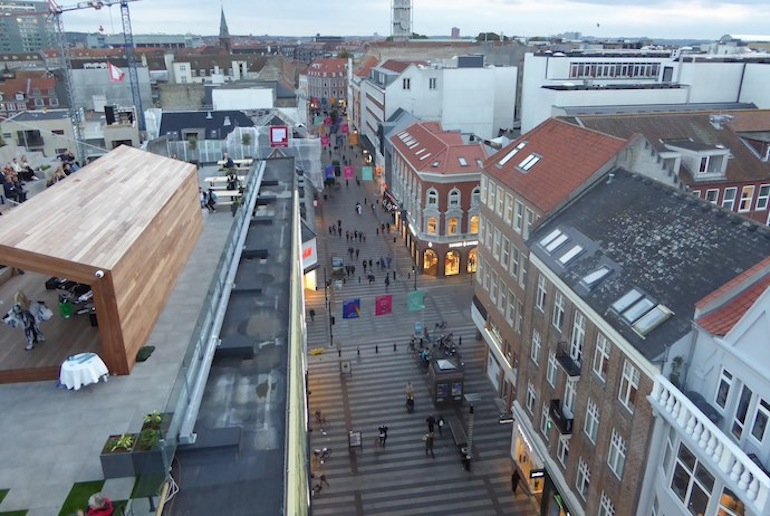 It's free to admire the views of Aarhus from the Salling store roof terrace