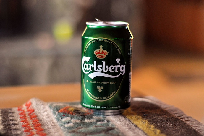 Carlsberg beer, perhaps Denmark's best-known export