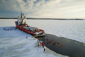 You can join an ice-breaker tour in Finland this winter