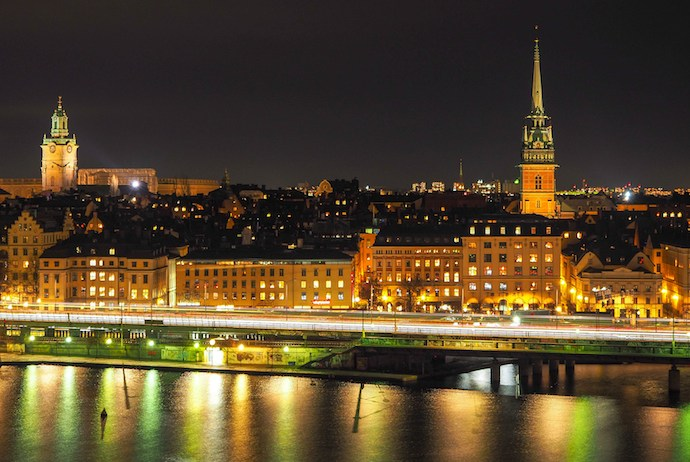 Scandinavian cities tend to be well-lit at night