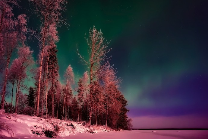Seeing the northern lights in Finland