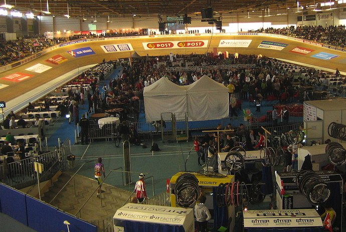 Denmark's iconic 6-day cycling event takes place in the Ballerup Arena