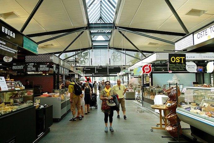 Torvehallerne food market, Copenhagen, Denmark
