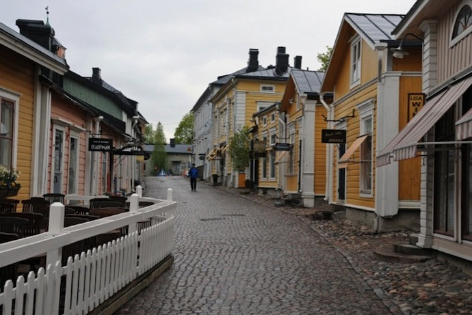 Porvoo in Finland has cobbled back streets and a pretty riverfront