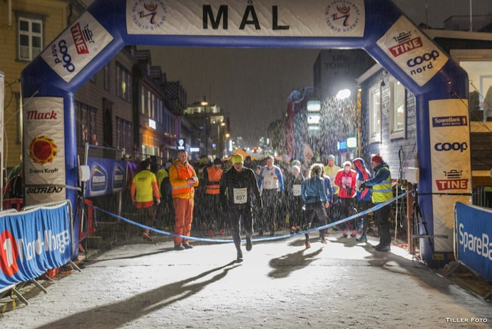 The PolarNight half marathon in Tromso is Norway's largest winter running event