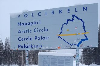 Crossing the Arctic Circle in Sweden