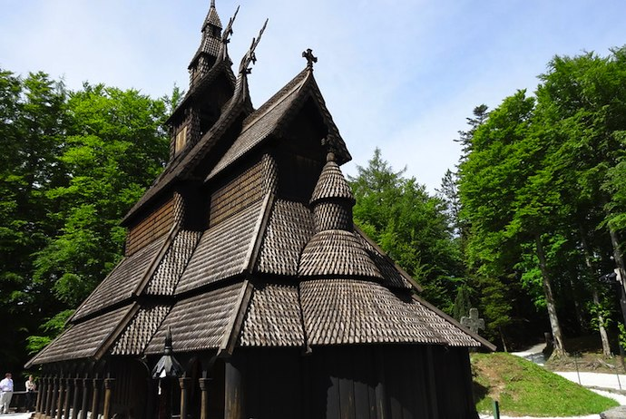 Entrance to the Fantoft Stave Church is included within the Bergen Card