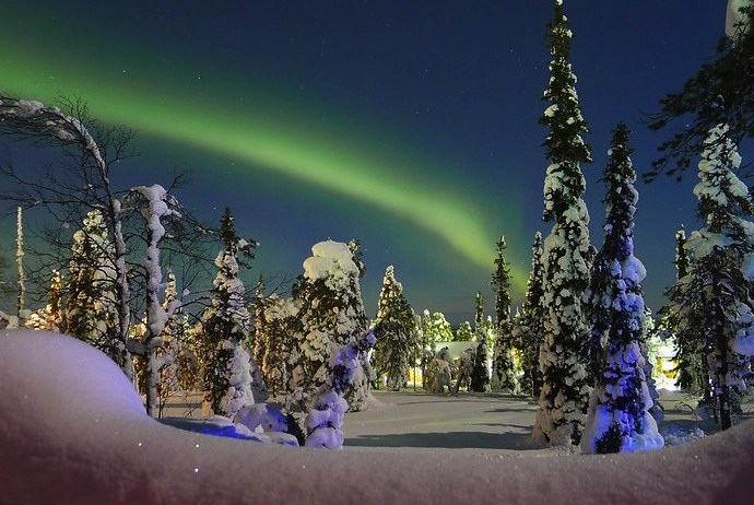 Finland is a great place for viewing the northern lights