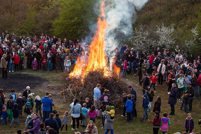 St Walburgis night bonfire, Sweden