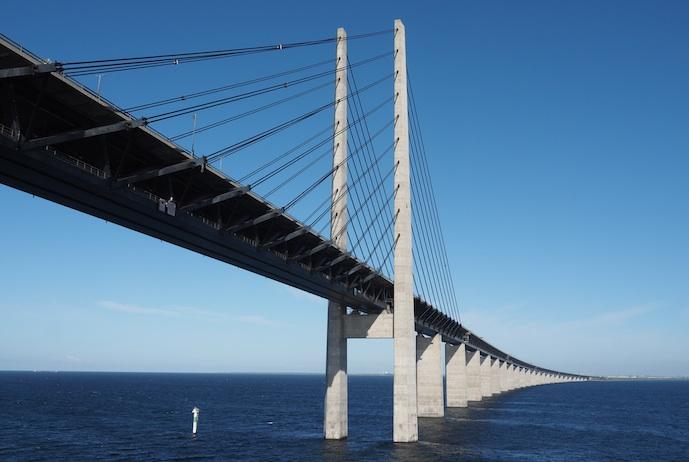 The Øresundsbron running to Sweden is Denmark's most iconic bridge