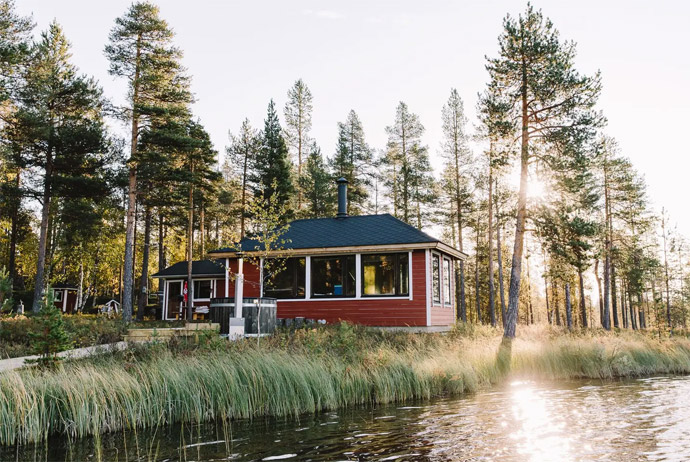 This airbnb rental in Finland is seriously cool