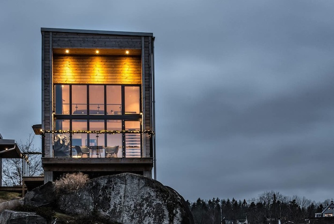 Great views from this modern cube house in Sweden
