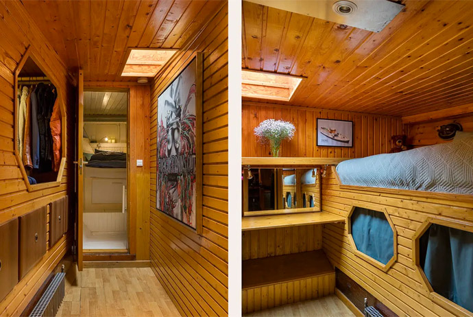 This houseboat is available to rent in Copenhagen through Airbnb