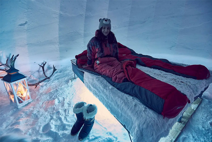 You can stay at this igloo in Finland with Airbnb