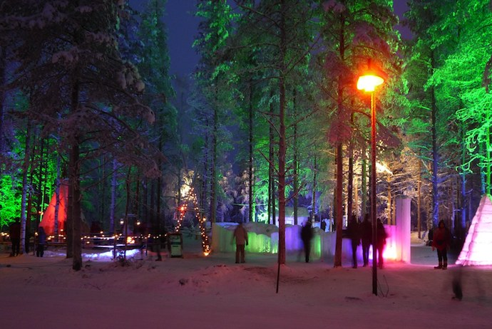 See the lights of Santa Claus village and go one a husky-sledge ride on this Christmas tour in Scandinavia