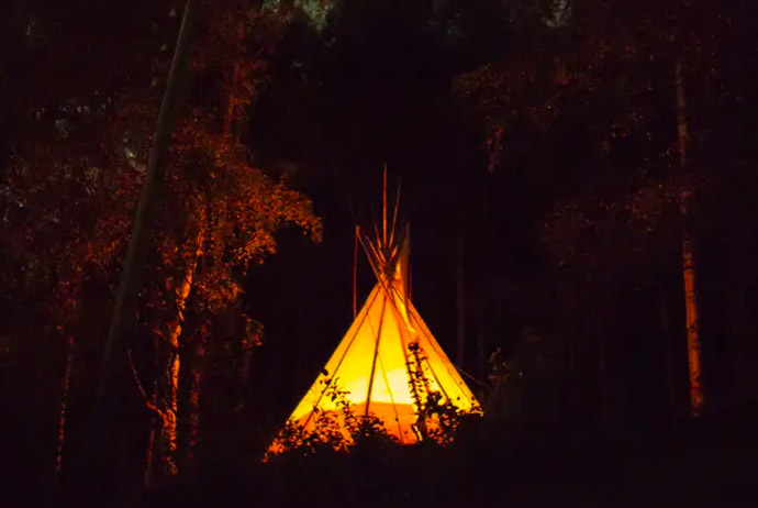 You can rent this tipi in Norway on Airbnb