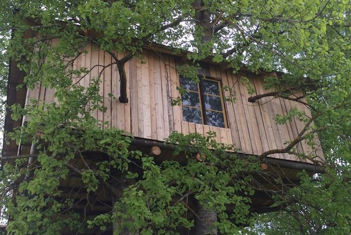 Hang out in the trees in this Swedish treehouse