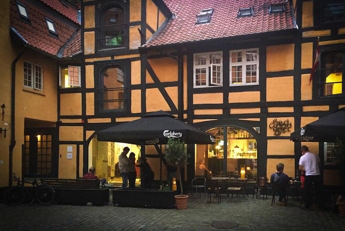 Historic beamed hostel in central Copenhagen