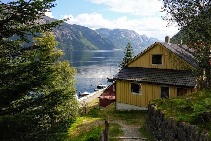 Fantastic Flørli 4444 Hostel, on the edge of Norway's Lysefjord