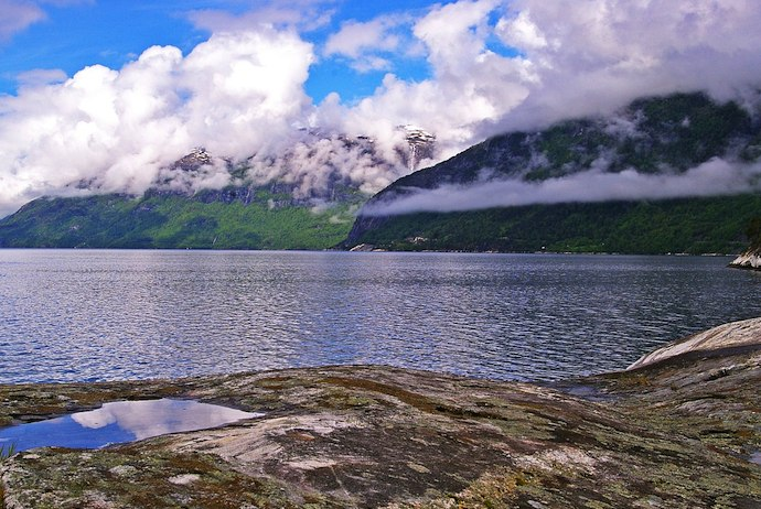 Hardangerfjord, easily visited from Voss, Norway