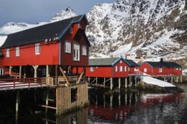 Hostel in former fishing cabin, Lofoten, Norway