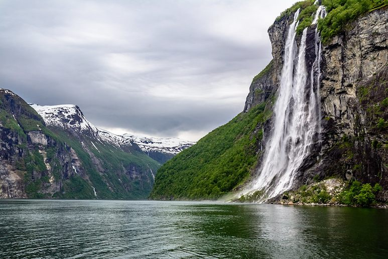 Geirangerfjord is home to some beautiful waterfalls