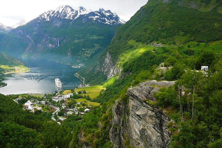 Geirangerfjord is one of best places to visit in Norway for picturesque scenery