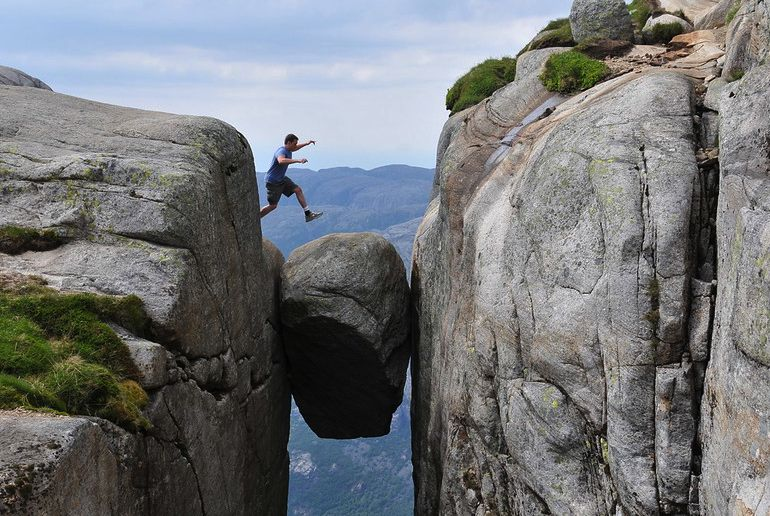 The Kjerag boulder is the ultimate posing spots - and one of Norway's best places to visit