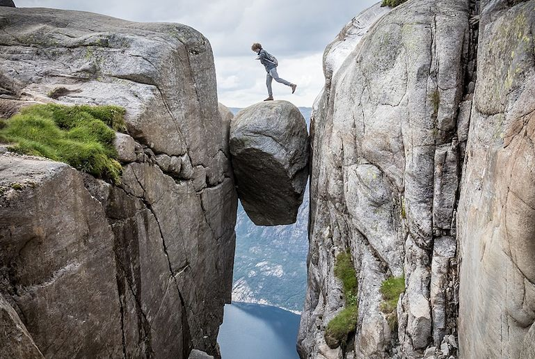 The Kjerag boulder is the ultimate posing spot - and one of Norway's best places to visit