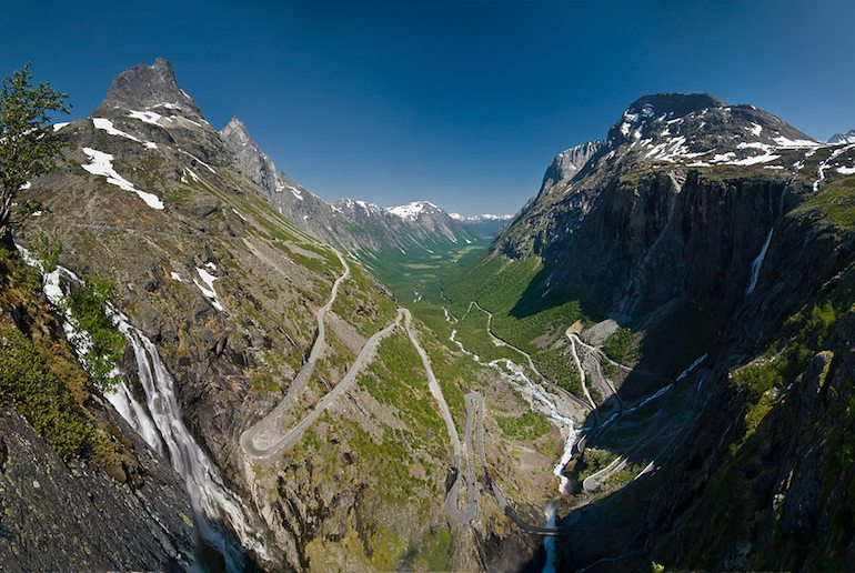 The epic Trollstigen road in Norway