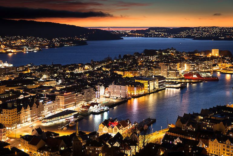 Bergen is probably Norway's best-looking city