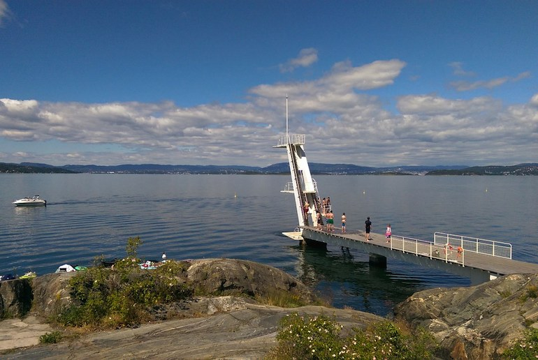 It's easy to get to the Oslofjord for a swim from the centre of Oslo