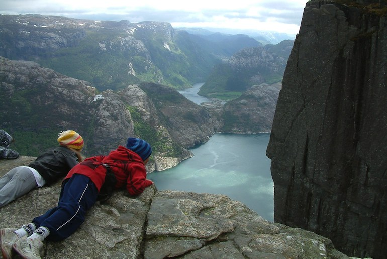 Preikestolen, or Pulpit Rock, is one of the best places in Norway for dramatic views
