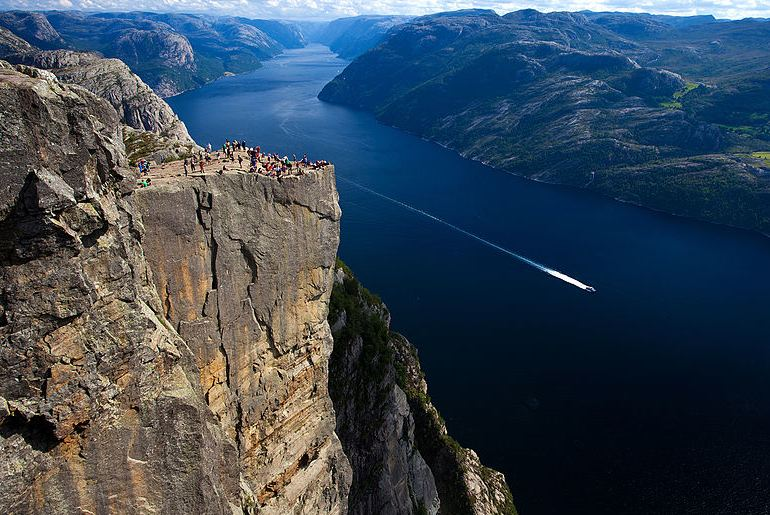 You can get epic views from Preikestolen in Norway