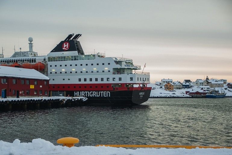 You can grab some amazing photos from the Hurtigruten boats in Norway