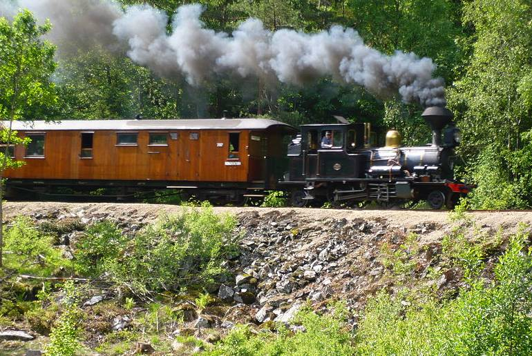 A trip on the Setesdalsbanen heritage railway is a cheap day out from Kristiansand, Norway