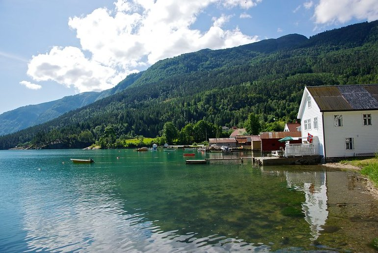 Visit the pretty village of Solvorn with a Fjordcard ferry pass