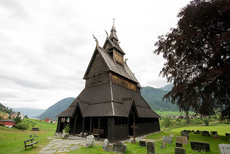 Vik Stave church can be visited using a Fjordcard ferry pass