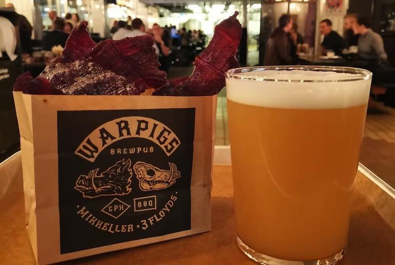 Mikkeller WarPigs serves great food and beer, one of Copenhagen's best breweries.