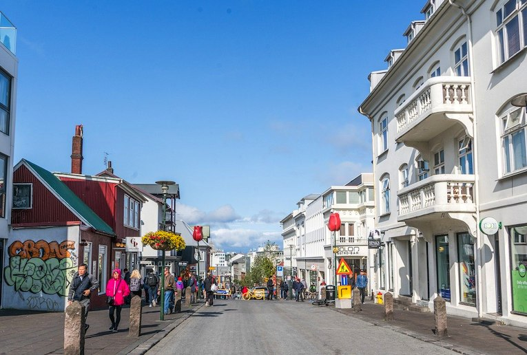 Laugavegur, Reykjavík's main shopping street is a great spot for window-shopping.