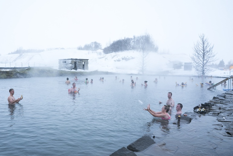 A lovely thermal hot pool, the Secret Lagoon makes a less crowded alternative to the Blue Lagoon