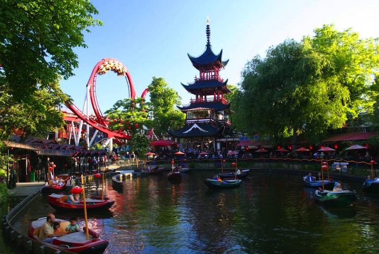 Tivoli Gardens in central Copenhagen is one of Scandinavia's best theme parks