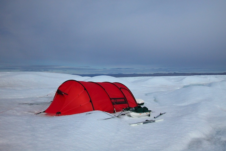 Keep warm and cosy in a winter tent if you're camping in Scandinavia in winter.