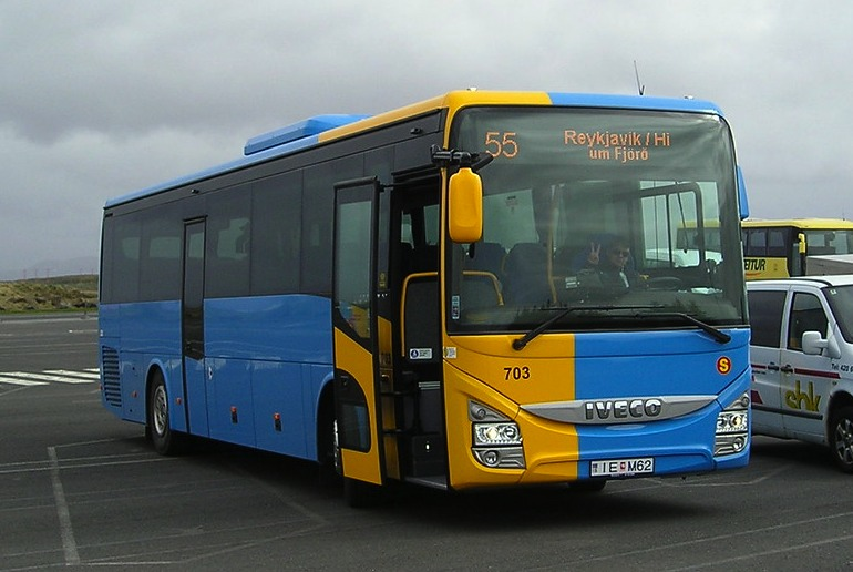 Bus 55 is the cheapest but slowest way of getting from the airport to Reykjavík city centre