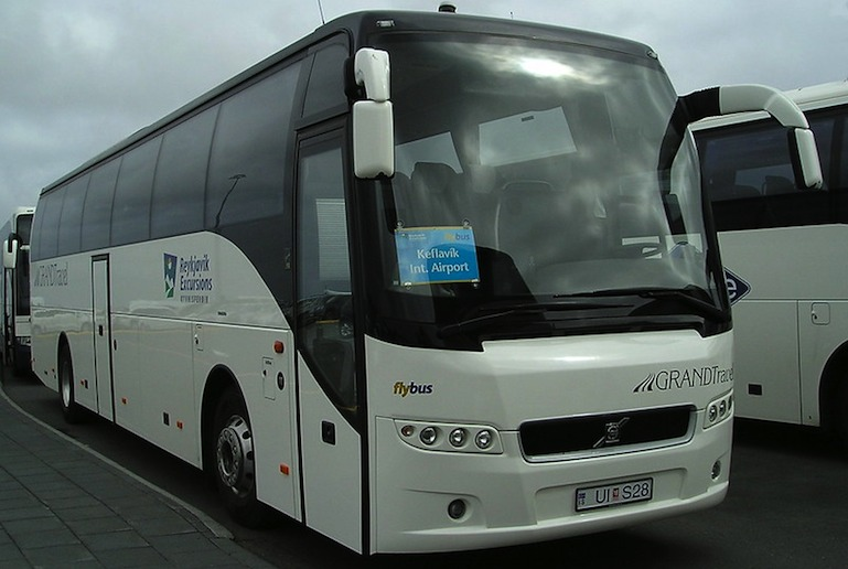 The FlyBus is a good way to get from the airport to Reykjavík city centre