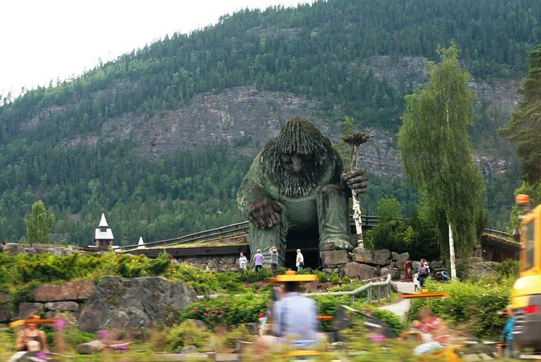 Climb inside a giant troll at Hunderfossen in Lillehammer, one of Scandinavia's best theme parks