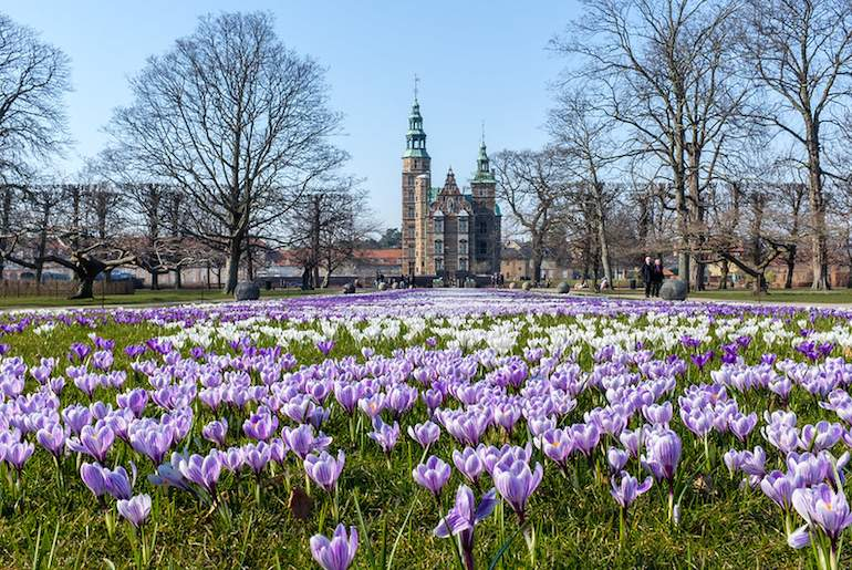 Visit the pretty garden of Kongens Have on a hygge and happiness walking tour of Copenhagen