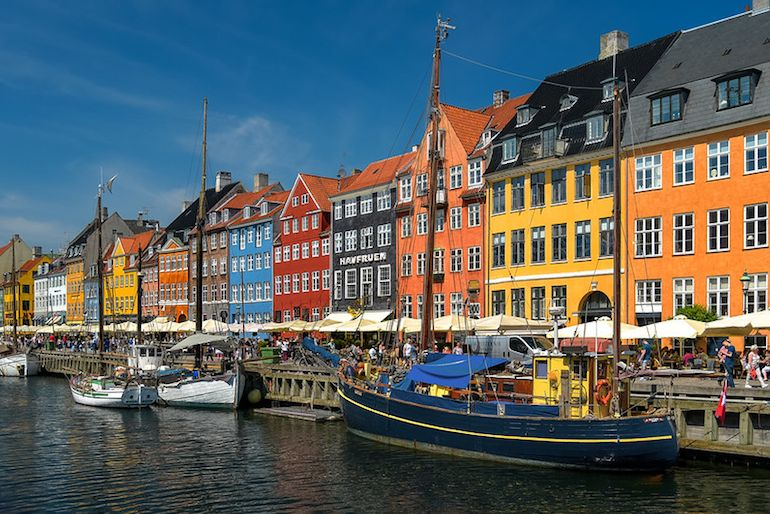 Nyhavn, one of the top sights to see in Copenhagen on a free walking tour