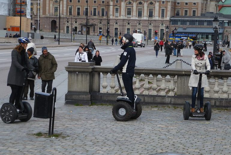 Probably the most fun way of getting round Stockholm is on a segway tour