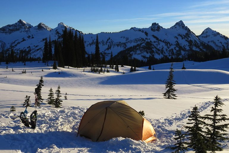 If you're camping in winter you need a good quality tent